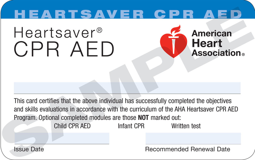Heartsaver® CPR/AED - New Hampshire CPR, EMT and First Aid